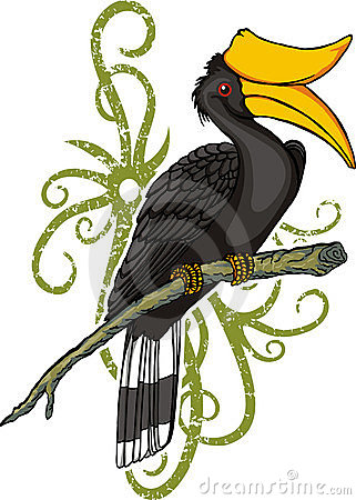 Free Hornbill Cartoon Royalty Free Stock Image - 5061816