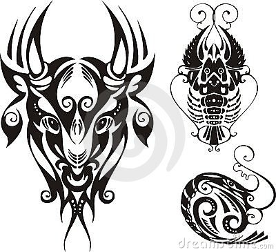 Horned bull and cancer.
