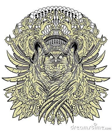 Flying Horned Owl Tattoo Horned-owl-wings-vector-format    Flying Horned Owl Tattoo