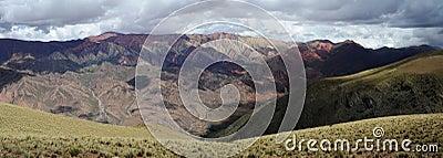 The Hornocal massive near Humahuaca on argentina a