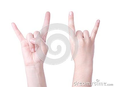 Horns hand sign