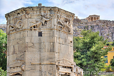 Horologion (Tower of the Winds), Athens, Greece