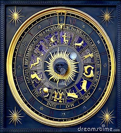 Horoscope clock