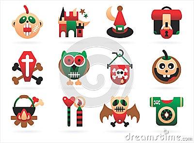 Horrible halloween icons
