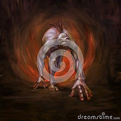 Horrible mutated monster
