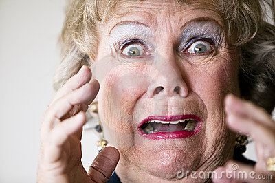 Horrified Senior Woman