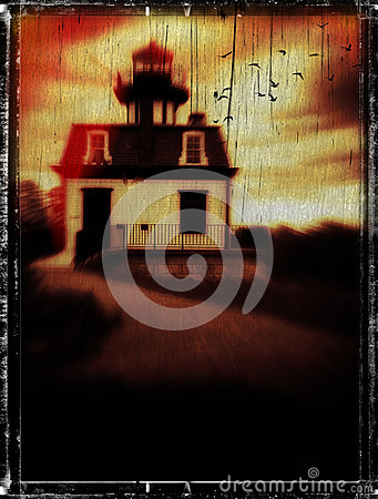 Horror Book Cover Concept Haunted Lighthouse