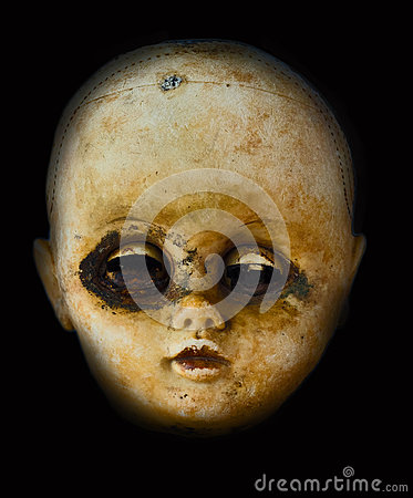 Free Horror Doll Head With Spooky Face Stock Images - 30998514