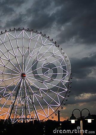 Free Horror Ferris Wheel In A Kasirinkai Park Royalty Free Stock Image - 39083596