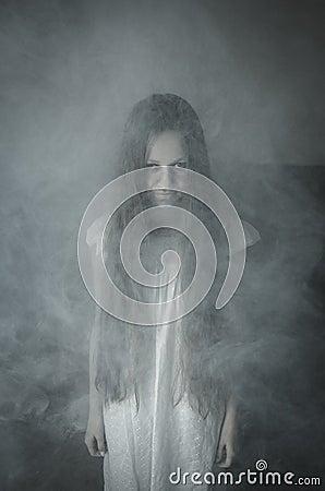 Free Horror Girl In White Dress Royalty Free Stock Photo - 60753385