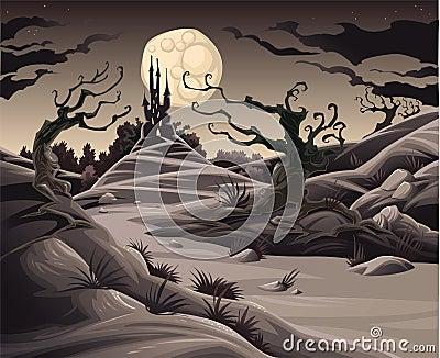 Horror landscape.