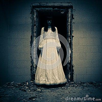 Horror Scene of a Bride