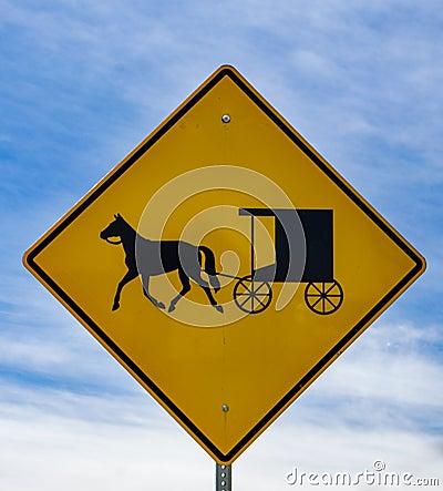 Free Horse And Buggy Sign – Burkes Garden, Virginia, USA Stock Photography - 89214102