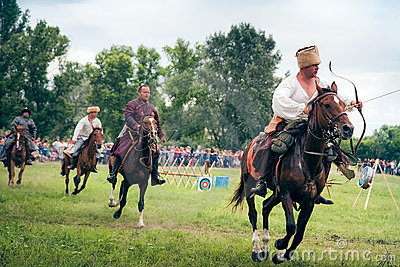 Horse archers Editorial Stock Photo