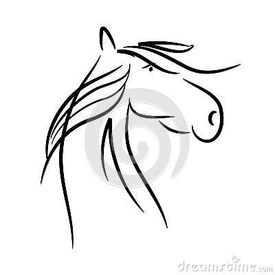 Free Horse As A Vector Royalty Free Stock Photos - 83394588