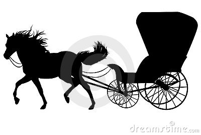 Horse with carriage
