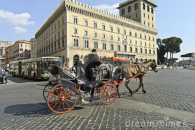 Horse carriage ride Editorial Stock Image