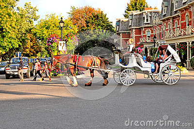 Horse and carriage ride Editorial Stock Image