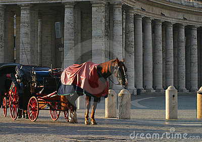 Horse and Carriage at Vatican Square