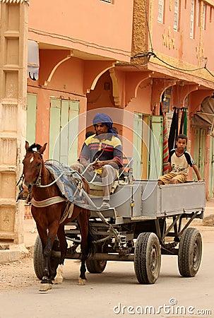 Horse cart transport Editorial Image