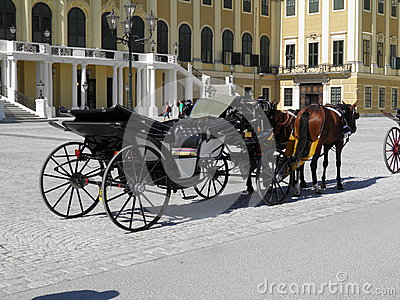 Horse coach at the Schonbrunn Palace, Vienna