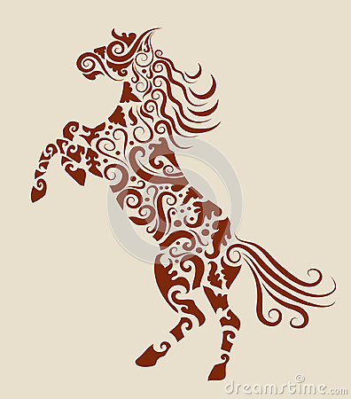 Horse decorative ornament