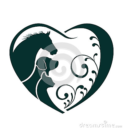 Free Horse, Dog And Cat Heart Image Logo Stock Images - 39281284