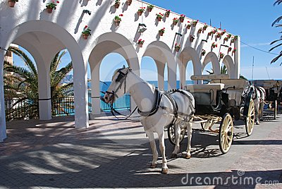Horse drawn carriage, Balcony of Europe, Nerja.