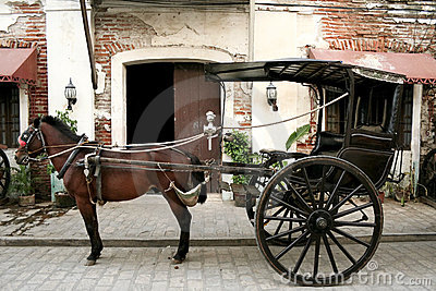 Horse drawn carriage old vigan philippines