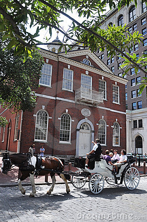 Horse drawn carriage tours in Philadelphia Editorial Image