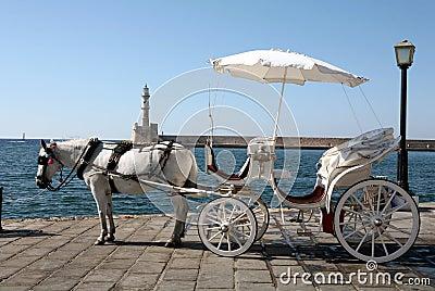 Horse-drawn taxi