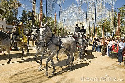 Horse Fair in Jerez, Cadiz Spain Editorial Stock Image