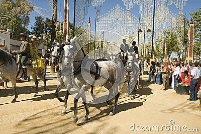 Horse Fair in Jerez, Cadiz Spain Editorial Stock Image