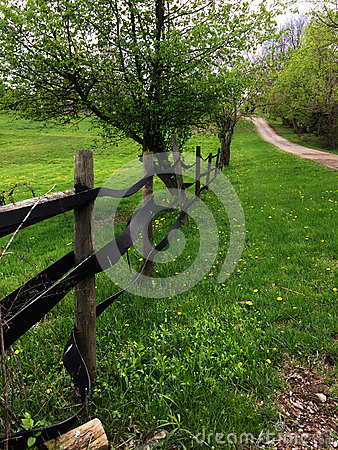 Free Horse Farm Fence  In Ohio Stock Photos - 53252353
