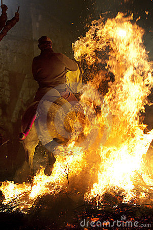 Horse and fire