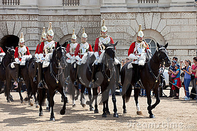 The Horse Guard Changing Ceremony Editorial Stock Image