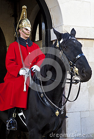 Horse Guard in London Editorial Photography