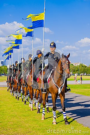 Free Horse Guards Of Thailand Stock Photography - 109131722