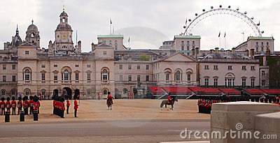 Horse guards parade in London Editorial Image
