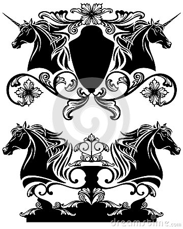 Horse head vector design