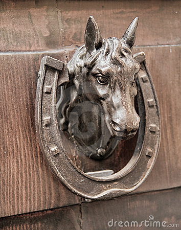 Free Horse Head Doorknocker. Royalty Free Stock Photography - 15844507