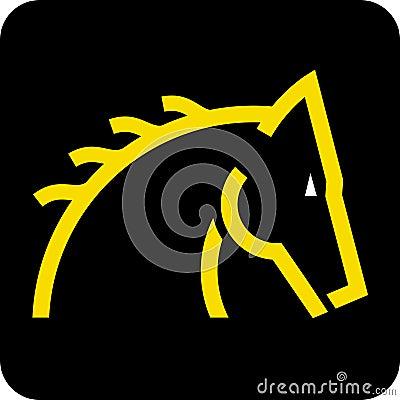 Horse head (vector)