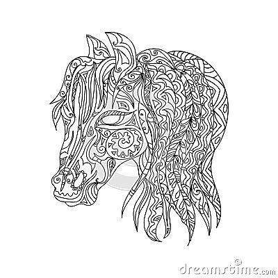 Horse Head Zentangle Stock Illustration Image 56888243