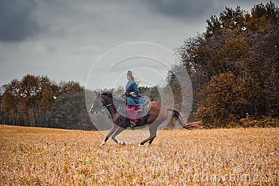 Horse-hunting with ladies in riding habit Editorial Stock Photo