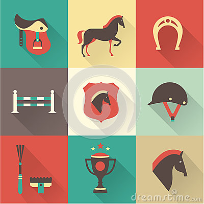 Free Horse Icons Stock Images - 34311804