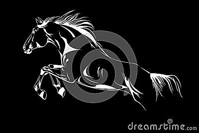 Horse jump vector sketch