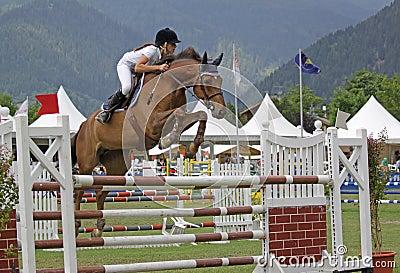 Horse jumping Editorial Image