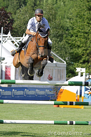 Horse jumping Editorial Photography