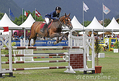 Horse jumping Editorial Image