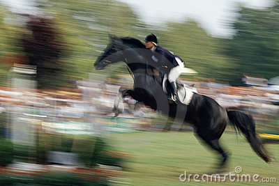 Horse jumping Editorial Photo